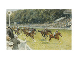 A Finish at Goodwood Print by Gilbert		 Holiday
