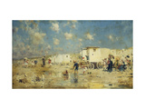 The Beach at Scheveningen, Holland Premium Giclee Print by Frederik Hendrik		 Kaemmerer