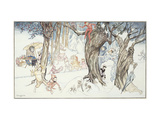 Winter Frolic Art by Arthur		 Rackham