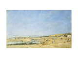 Trouville, General View of the Beach Giclee Print by Eugène Boudin