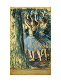Dancers in the Scene Giclee Print by Edgar Degas
