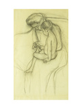 The Pedicure Premium Giclee Print by Mary Cassatt