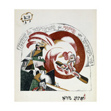 Illustration from Chad Gadya (The Tale of a Goat) Giclée-trykk av El Lissitzky