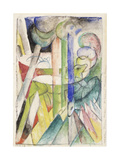 Mountain Goat Reproduction giclée Premium par Franz Marc