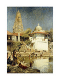 The Ganges at Benares Giclee Print by Edwin Lord		 Weeks
