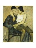 Seated Couple Giclee Print by Otto		 Mueller