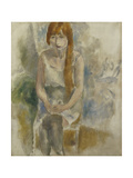Model Sitting Giclee Print by Jules		 Pascin