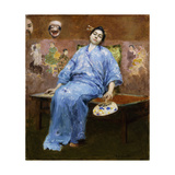 Geisha at Rest Giclee Print by Julius Gari		 Melchers