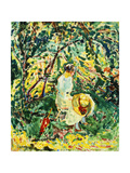 Woman in a Garden Giclee Print by Alfred Henry Maurer