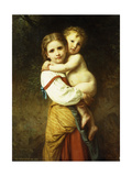 The Big Sister; La Grande Soeur Giclee Print by William Adolphe Bouguereau