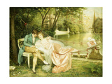 Flirtation Giclee Print by Joseph Frederic Soulacroix