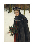 A Winter Bouquet Giclee Print by Harry Weyden