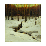 Winter Woods Print by Charles Warren		 Eaton