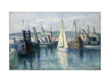 Dieppe, Un Bassin Posters by Maximilien Luce