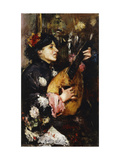 Woman with a Mandolin Giclee Print by Antonio		 Mancini