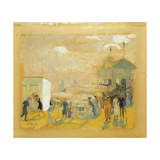 The Battery Giclee Print by William James		 Glackens