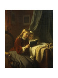 The Bedtime Story Giclee Print by Johan Georg		 Meyer