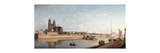 Magdeburg on the banks of the River Elbe - View from the East to the West Premium Giclee Print by Johann Philipp Eduard		 Gaertner