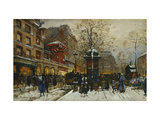 The Moulin Rouge, Paris Art by Eugene		 Galien-Laloue