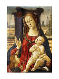 The Madonna and Child with the Infant Saint John the Baptist Lámina giclée por Jacopo Sellaio
