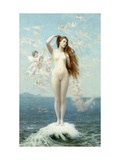 Venus Rising (The Star) Premium Giclee Print by Jean Leon		 Gerome