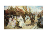The Royal Entourage Poster by Georges Jules Victor		 Clairin