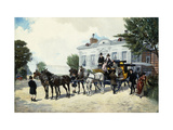 The Hackney Carriage Art by Ernest Alexandre		 Bodoy