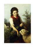 Feeding the Lamb Giclée-tryk af Rudolf Epp