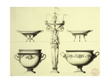 Design for a Candelabrum in the form of a Woman Giclee Print by Moitte Jean-Guillaume