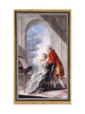 John Wilkes and Miss Gertrude Carmontelle Giclee Print by Louis Carmontelle