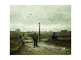The Outskirts at Paris Giclee Print by Vincent van Gogh