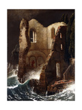 The Chapel Print by Arnold Bocklin