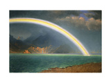 Rainbow Over Jenny Lake, Wyoming Posters by Albert Bierstadt