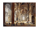 The Interior of a Renaissance Cathedral Giclee Print by Christian		 Stocklin