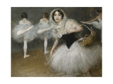 The Dancers Print by Pierre Carrier-Belleuse