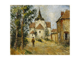 The Lively Village Giclee Print by Gustave		 Loiseau
