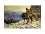 Hunters and Packmules Prints by William Henry Dethlef		 Koerner