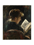 Woman Reading Giclee Print by Lovis		 Corinth