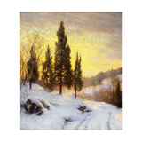 Winter Sundown Affiches par Walter Launt		 Palmer