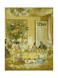 The Dining Room in the Castle of Clayes Poster by Edouard		 Vuillard
