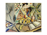 Still Life with Fruit and Japanese Print Giclee Print by Preston		 Dickinson