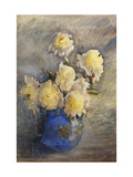 Peonies in a Blue Vase Posters by Rose Maynard		 Barton