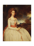Portrait of Mrs. Moody Second Wife of Samuel Moody Giclee Print by George		 Romney