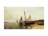 Calm Morning, Portland Harbor Giclee Print by Alfred Thompson		 Bricher