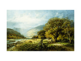 A Stroll Along the River Premium Giclee Print by Melrose Andrew
