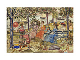 Afternoon in the Park Posters by Maurice Brazil		 Prendergast