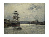 The Port of Caen Giclee Print by Stanislas		 Lepine