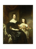 Portrait of an Elegant Lady and her Daughter Giclee Print by Sir John		 Watson-Gordon
