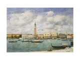 Venice, Campanile, St Mark's View of the Canal from San Giorgio Giclee Print by Eugène Boudin