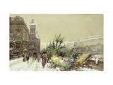 Flower Market Giclee Print by Eugene Galien-Laloue